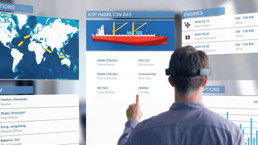 Augmented reality can be used for viewing vessel details in an operations room