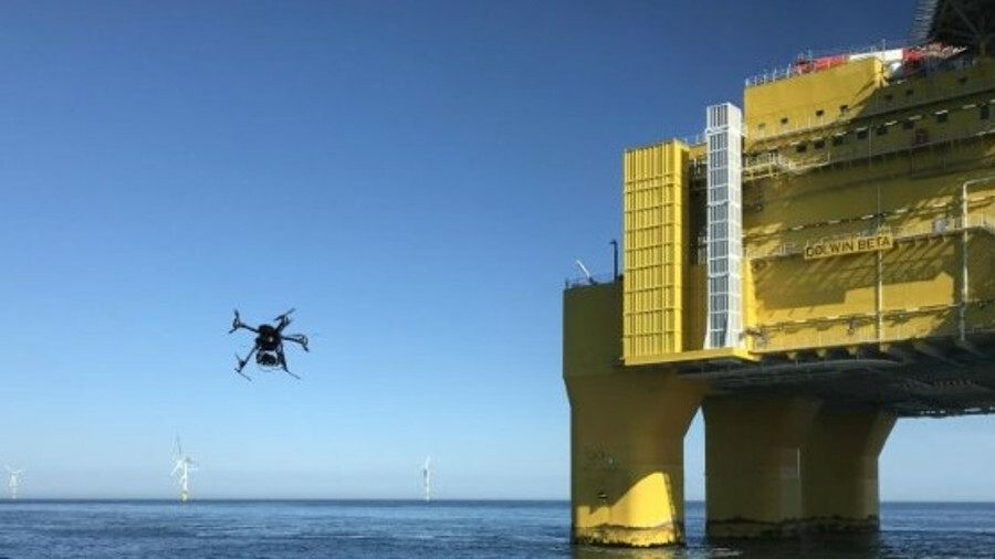 Drones are increasingly widely used to inspect offshore structures