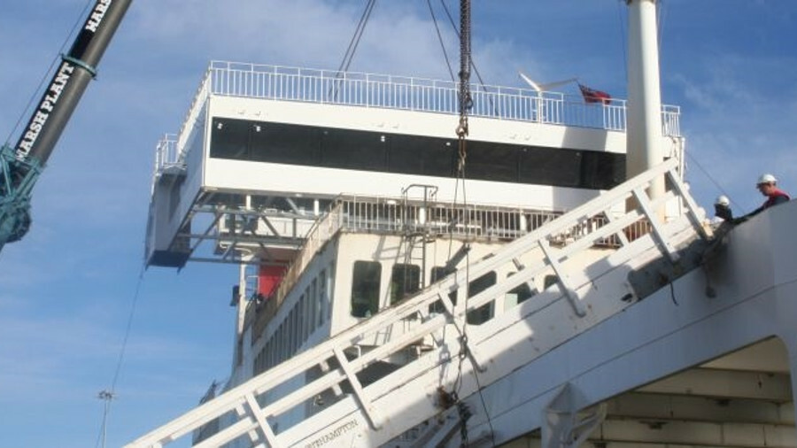 Trimline, SMS and Wight Shipyard Co are working on the refurbishment of Red Funnel's Red Eagle (cred
