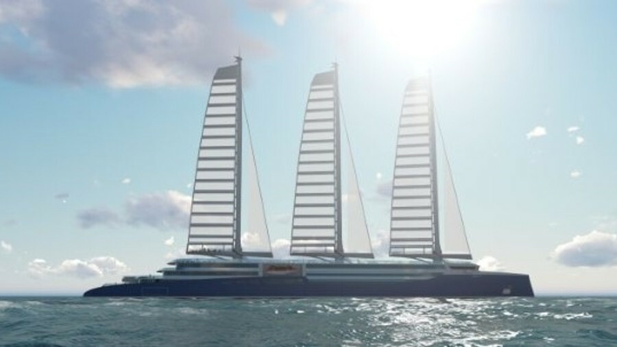STX France has launched a carbon-free cruise design that uses wind as the main source of propulsion
