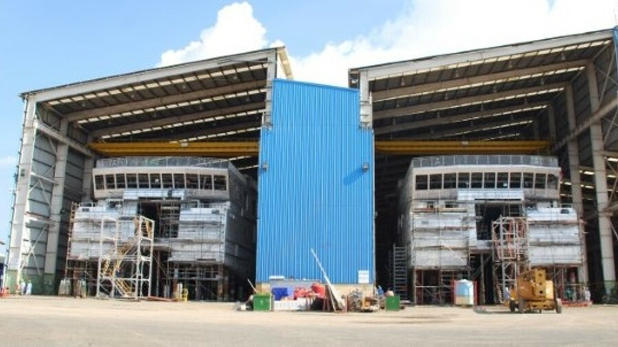 Rederij Doeksen's catamarans are being constructed at Strategic Marine's Vietnam shipyard. Credit: M