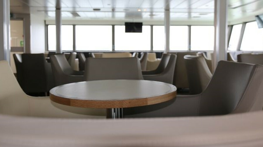 Red Funnel's Red Eagle has undergone an extensive interior refit