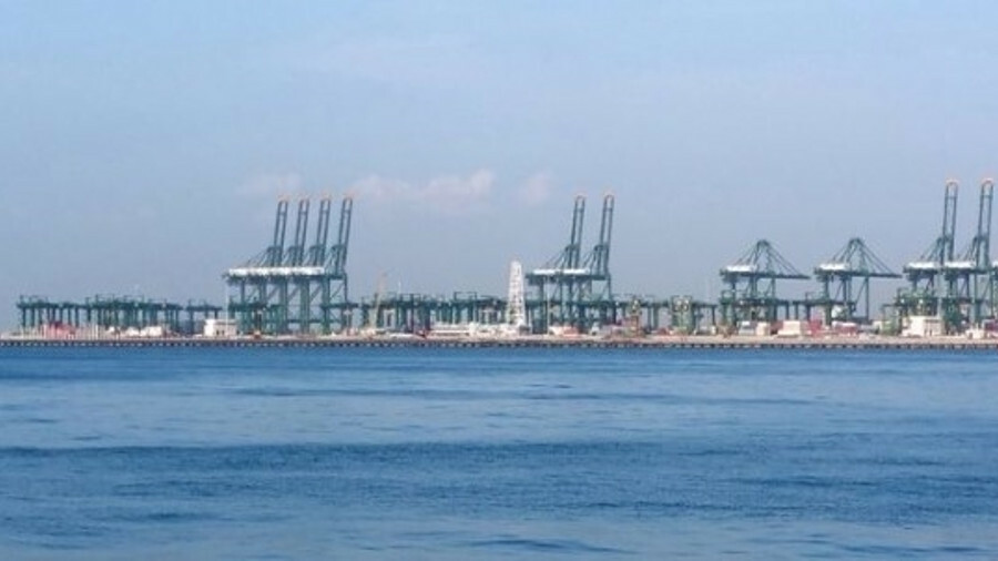 Shanghai beat Singapore (pictured) by 6.6M TEU to be crowned world's busiest container port
