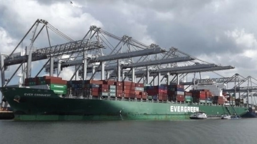 Imabari Group has delivered the first of 11 x 20,150 TEU ships to Evergreen
