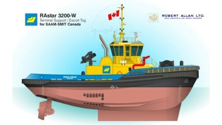 Uzmar is using a Robert Allan RAstar 3200-W design for a terminal support tug for SAAM-Smit Canada