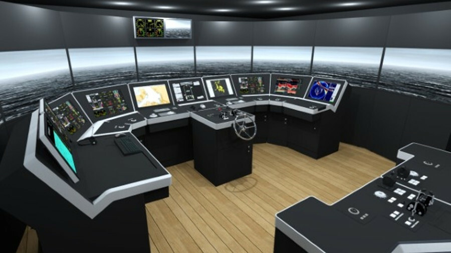 Kongsberg's K-Sim Fishery simulator includes a forward bridge with 135° of visualisation