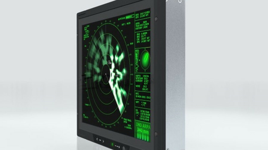Hatteland's HM 20T22 XRD has a 20-in screen for radar display