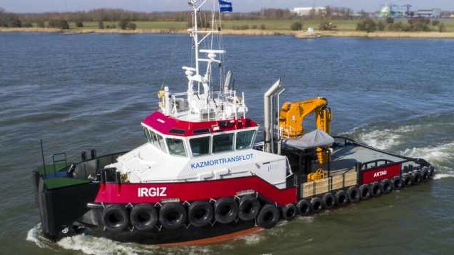 Irgiz has a top speed of 11 knots and more than 40 tonnes of bollard pull