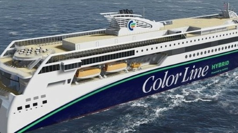 Color Hybrid has reached a milestone in its construction (credit: Ulstein)