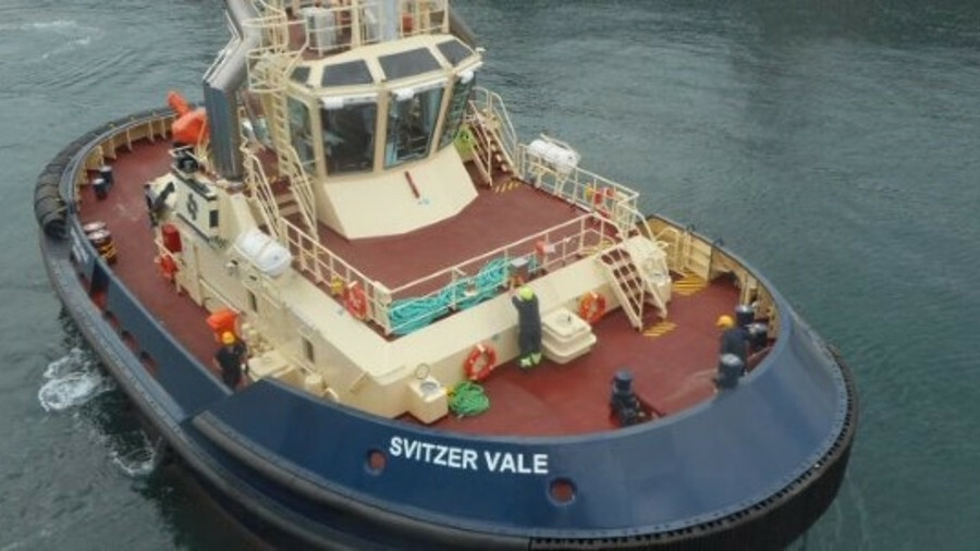 Svitzer Vale has a bollard pull of 70 tonnes and two Caterpillar 3516C HD engines