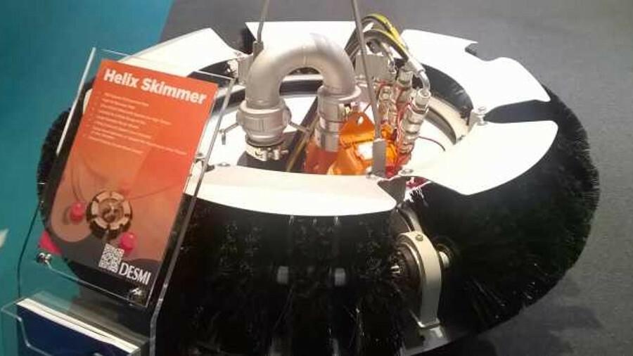 A Desmi Helix free float skimmer (credit: Riviera Maritime Media)