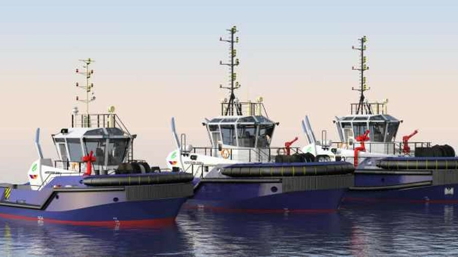 OSD's series of Azistern-e tug designs have 35-70 tonne bollard pull capabilities