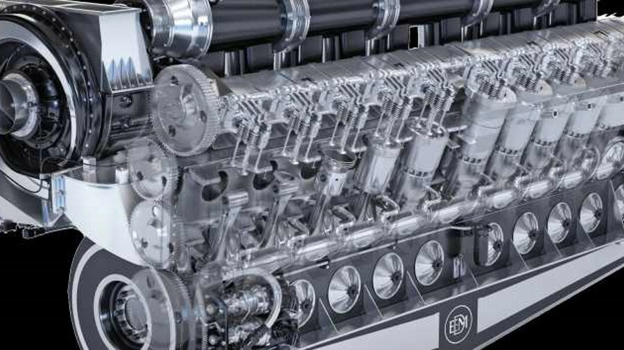 EMD's 20-valve version E23 engine has a power rating of 3,730 kW at 900 rpm