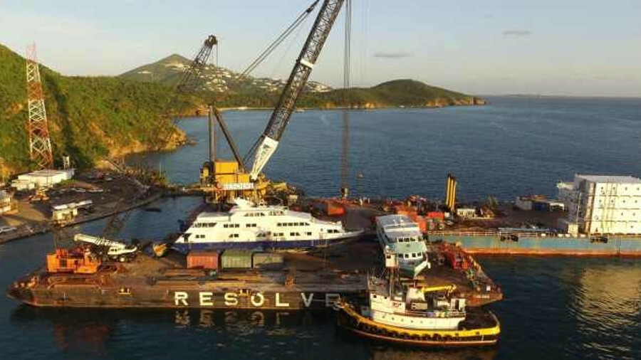 Resolve assisted in the salvage of vessels after hurricanes crippled the Caribbean in October 2017