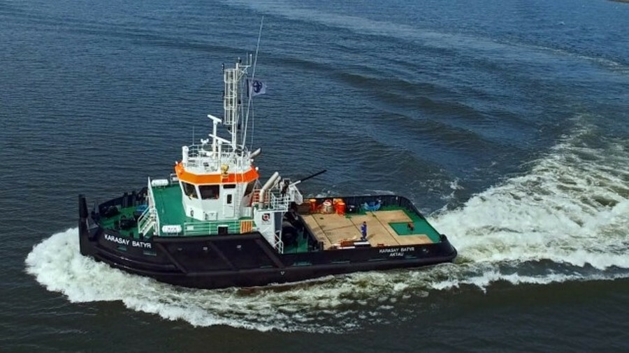 De Hoop delivered <i>Kabanbay Batyr</i> tug after river and sea trials in March