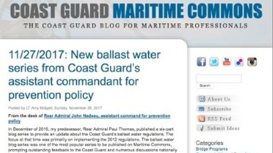 USCG tightens rules on ballast management 1