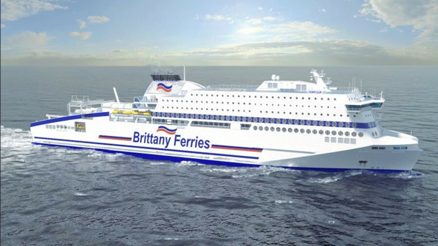 Brittany Ferries' Honfleur will run on LNG when it is delivered in 2019