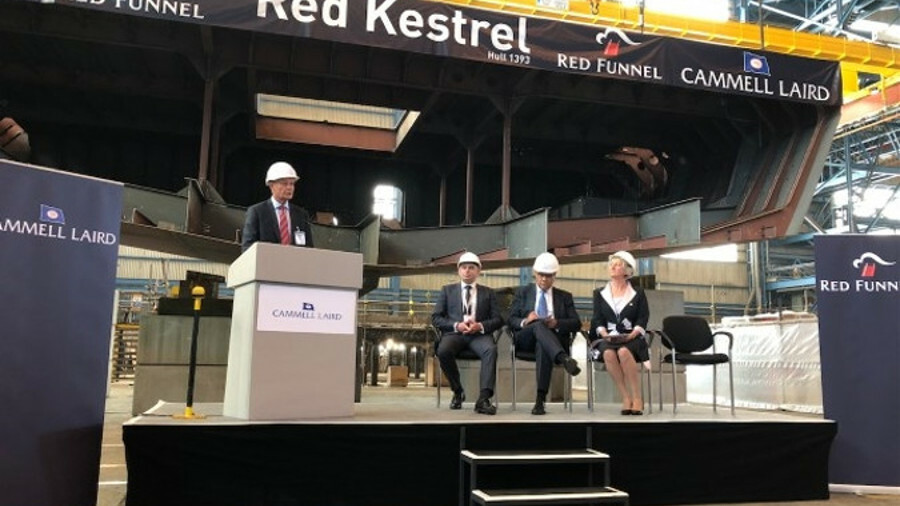 Red Funnel Ferries celebrates the keel laying of its new UK-built ship