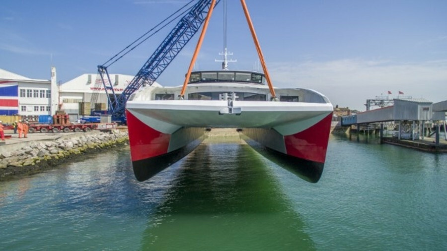 Wight Shipyard refined some building techniques to make Red Jet 7 even more fuel efficient than Red