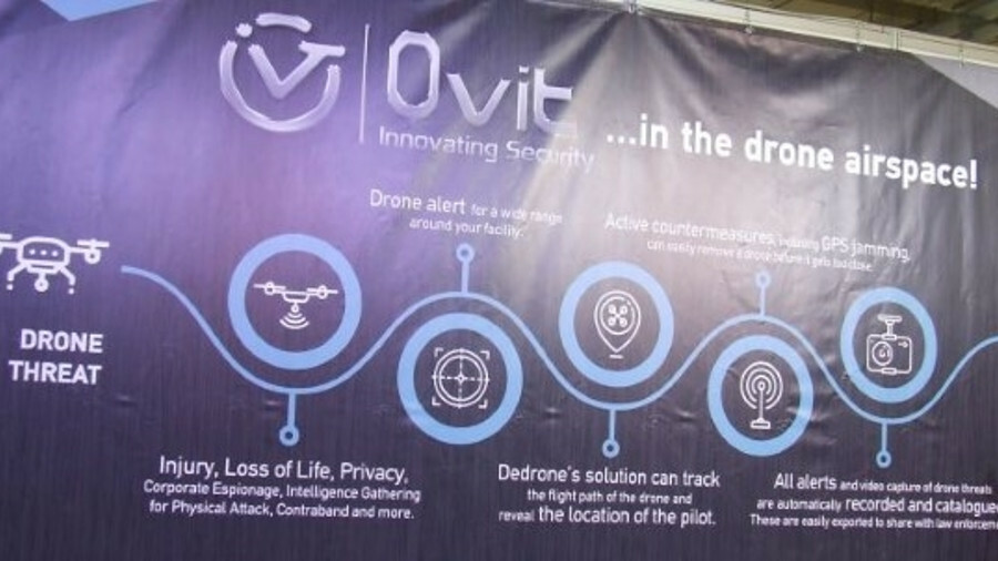 Ovit demonstrated how its security system can detect drones and enable owners to activate countermea