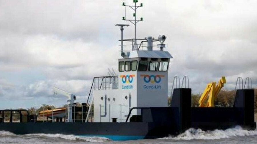 Combi Lift's pusher tugs have a top speed of 9.5 knots from three Caterpillar C12 TA B engines (cred