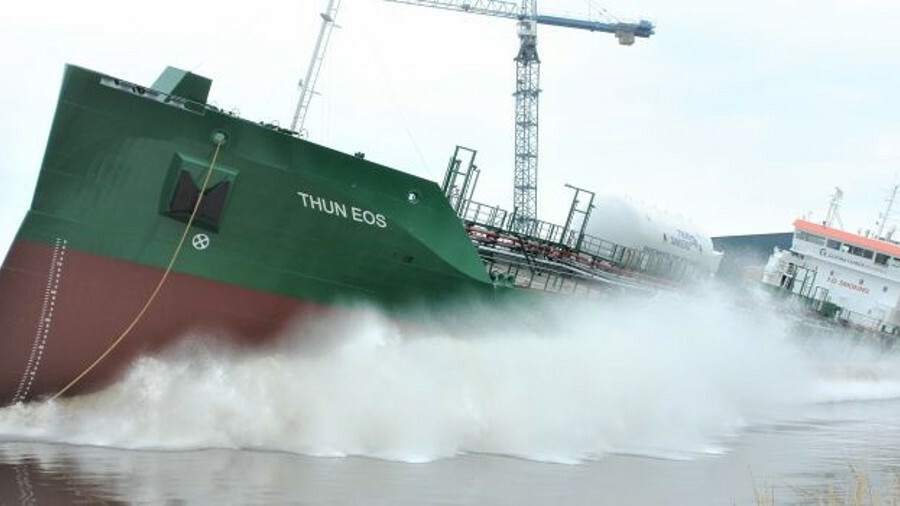 <i>Thun Eos</i>: the first in a series of new coastal tankers