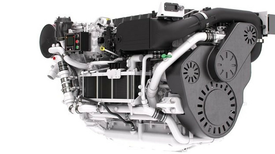 Caterpillar's C12.9 engine has a supercharger that enhances its low-end torque (credit: Caterpillar)