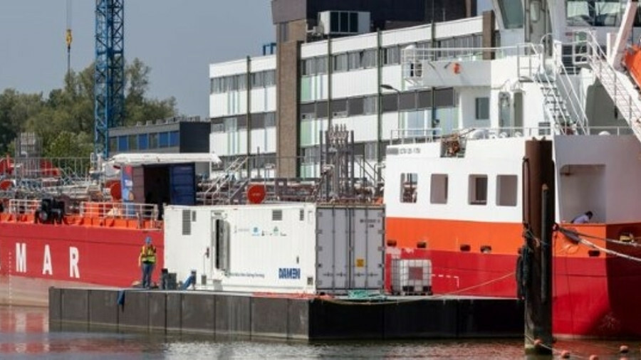 A Damen InvaSave system has delivered ballast water to the new coastal tanker Elena H (credit: Damen