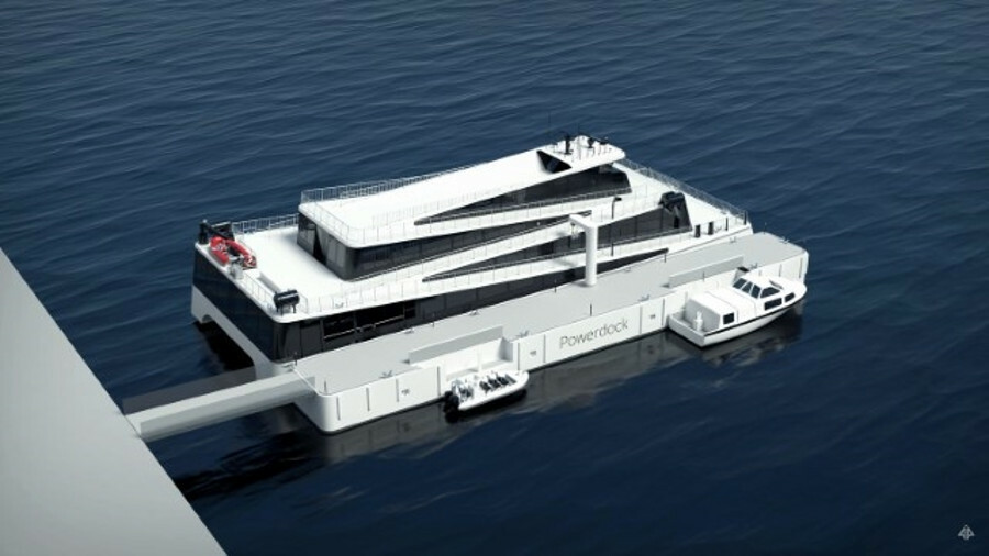 Future of the Fjords' Power Dock can recharge the vessel in just 20 minutes,