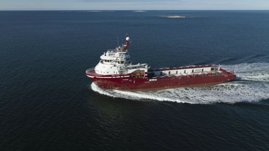 Platform supply vessel Dina Star, the first ship with ABB's Onboard DC Grid (image: ABB)