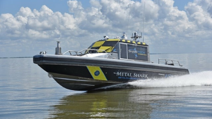 Sharktech autonomous vessel can used for naval, surveillance, fire-fighting or survey operations