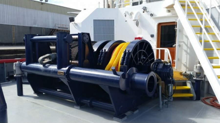 JonRie's Tri-Winch was installed on Seabulk's Rotortug <i>Trident</i> in 2017