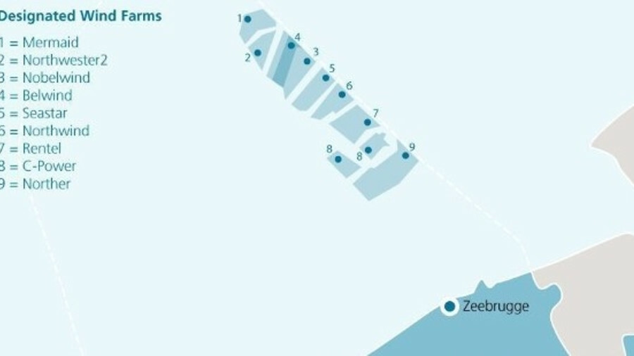 Designated zones for Belgian offshore windfarms – spatial planning for post-2020 windfarms could be