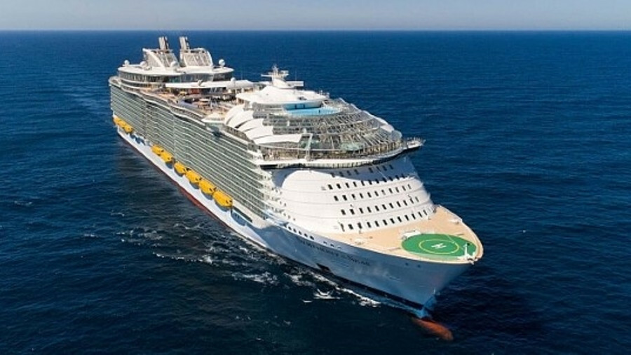 The largest cruise ship in the world, Royal Caribbean's Symphony of the Seas, is fitted with a compr