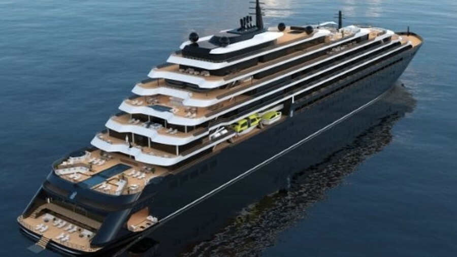 A rendering of the Ritz-Carlton Yacht Collection (RCYC) cruise yacht, due to be launched in 2020. Cr
