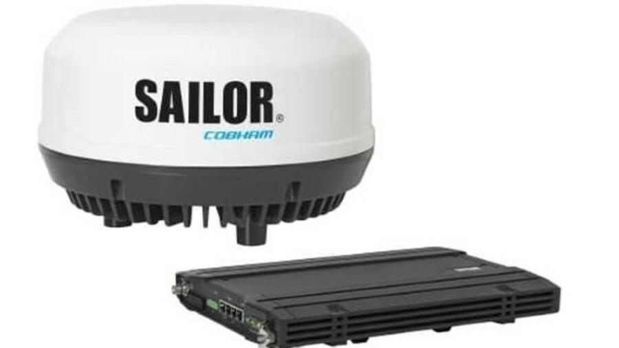 Sailor 4300 has an integrated Iridium broadband core transceiver module in the antenna