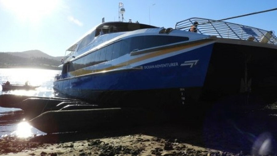 My Fast Ferry's Ocean Adventurer is launched. Credit: Incat