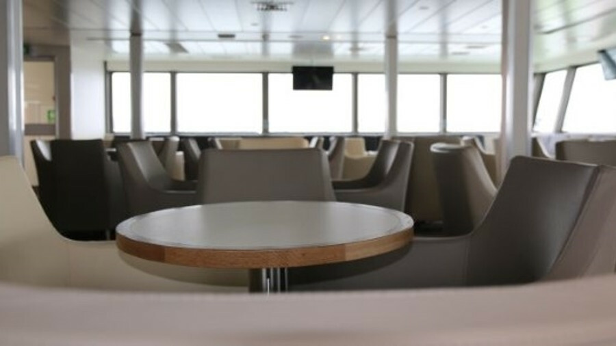 The new lounges were built in aluminium rather than steel to stop the vessel being too heavy