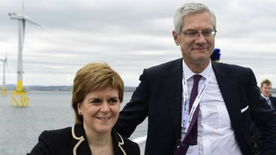 Vattenfall chief executive Magnus Hall and Scotland's first minister Nicola Sturgeon both attended t