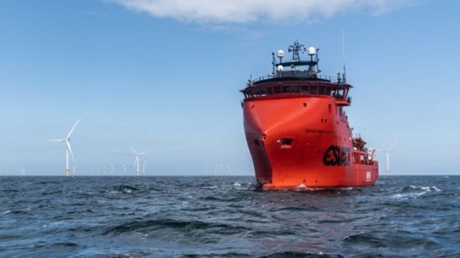 Esvagt Mercator is on a 10-year contract for MHI Vestas offshore Belgium