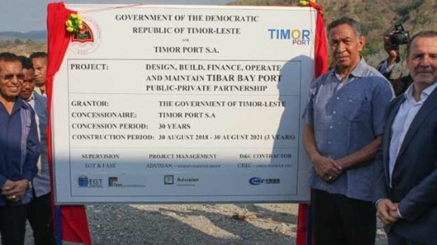 Government of Timor Leste and Bollore Ports celebrate start of construction of Tibar Port