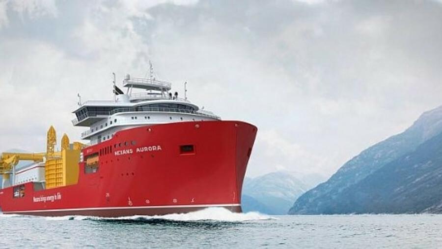 Nexans Aurora is scheduled for delivery from Norwegian yard Ulstein Verft in Q3 2020 (credit: Ulstei