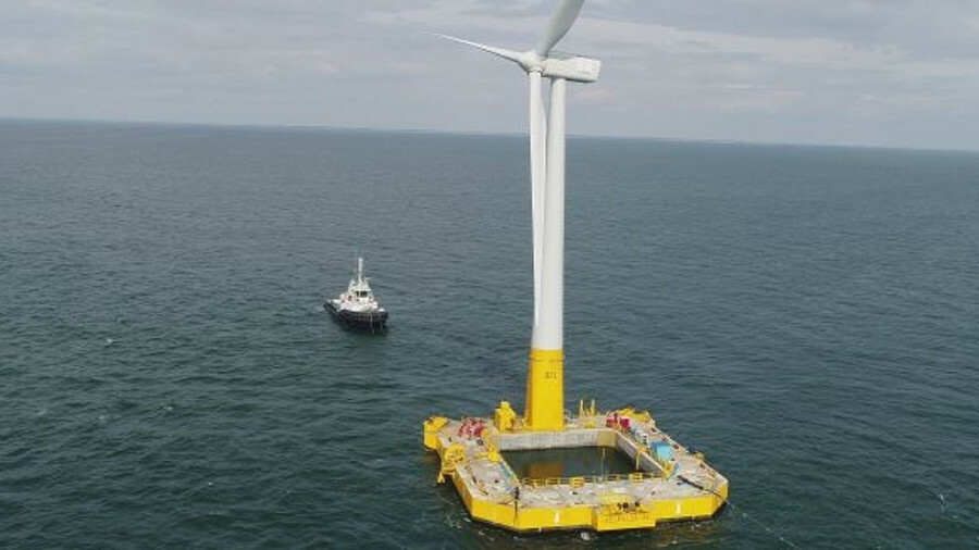Floatgen, France's first operation offshore wind turbine of any type, has begun exporting power to t