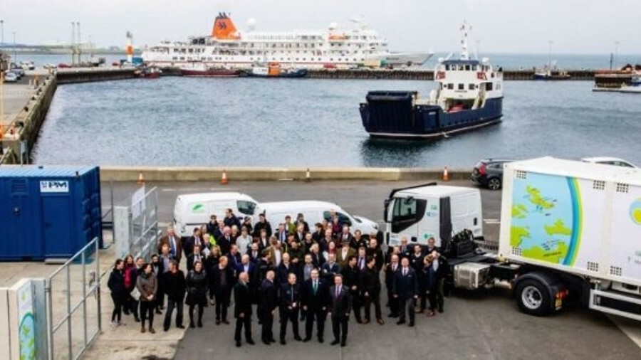 The world-first hydrogen ferry will operate around Orkney in Scotland (pictured)