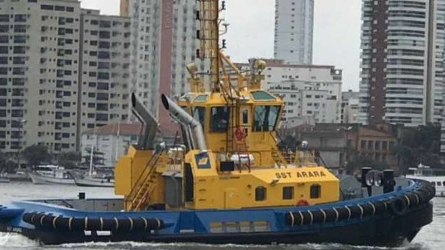 <i>SST Arara</i> was delivered by Wilson Sons in August and has been mobilised in Santos port