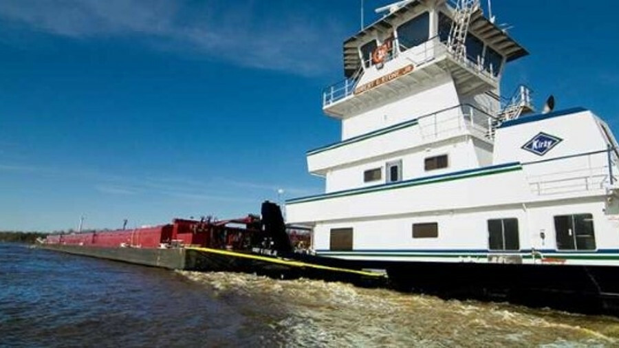 Kirby operates a fleet of tugs and barges on US inland waterways