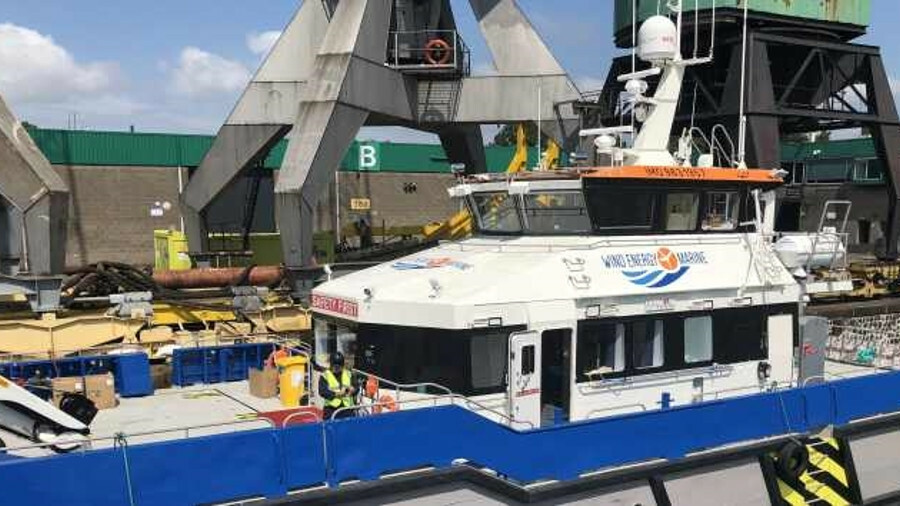 Wind Energy Marine has installed FusionIP VSAT on its crew transfer vessel
