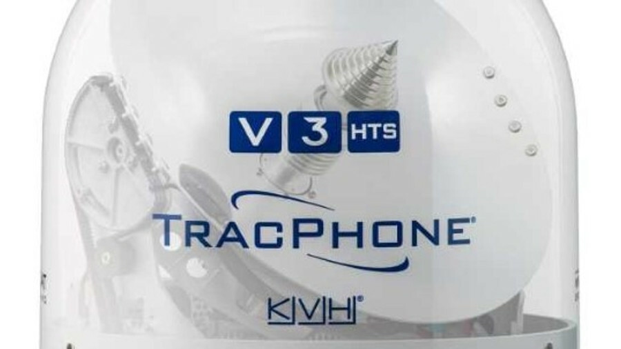 TracPhone V3-HTS is a 37-cm diameter antenna that weighs just 11 kg
