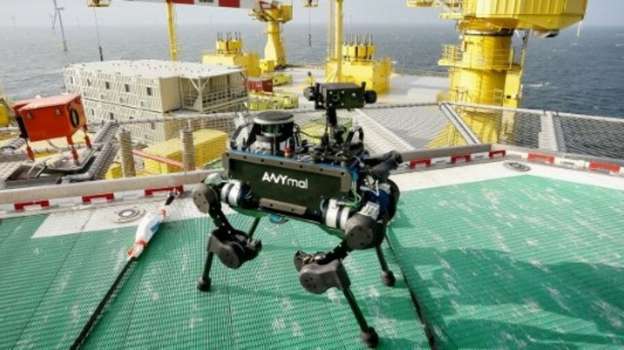 The ANYmal spent a week on one of TenneT's offshore convertor platforms, conducting a range of visua