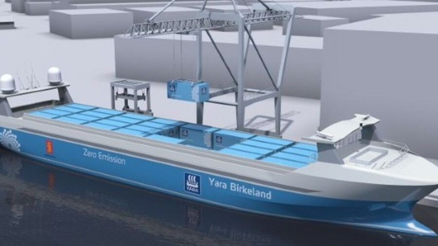 Kongsberg is committed to having its first fully autonomous ship Yara Birkeland, operational by 2020